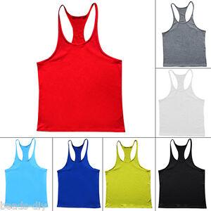 New-Men-Gym-Bodybuilding-Vest-Exercise-Tank-Top-Muscle-Stringer-Singlet-Racer-NG