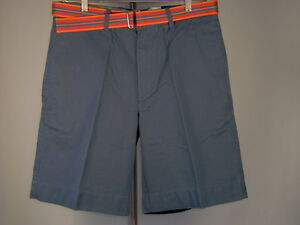 Best-Club-Room-Belted-Chino-Shorts-Cadet-Blue-38-Men-New-NWT