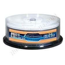 25 Optical Quantum 6x 25GB Blu-ray BD-R Glossy White Inkjet HUB Printable
