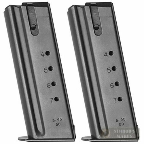 TWO MAGNUM RESEARCH Desert Eagle .50 AE 7 Round MAGAZINES MAG50 FAST SHIP