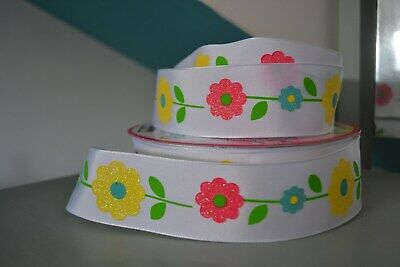 EASTER BONNET CRAFT ROLL WIDE 2M SPRING GREEN GROSGRAIN WIRE EDGED RIBBON