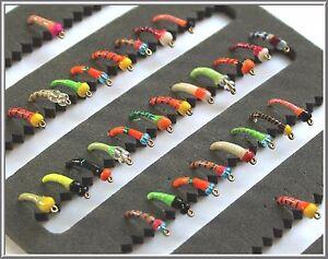 Truites-Mouches-pour-peche-a-la-mouche-UK-Lummies-Crochets-10-12-14-truites-mouches-epoxy-Buzzers