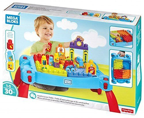 NEW Mega Bloks Build 'N Learn Table Building Set FREE SHIPPING