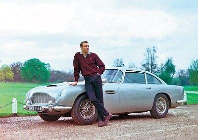 Sean Connery James Bond 007 Aston Martin Poster
