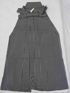 Men-039-s-Black-amp-Gray-Striped-Japanese-ANDON-HAKAMA-Skirt-Type-B658