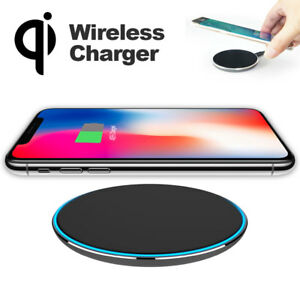 Qi-Wireless-Charger-Slim-Pad-Mat-Aluminum-For-iPhone-X-8-Note-8-S7-Edge-S8-Plus