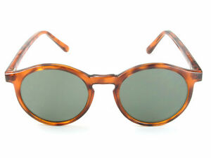9b7c73d773 Image is loading Womens-Round-Keyhole-Sunglasses-Brown-Tortoiseshell-Frames -100-