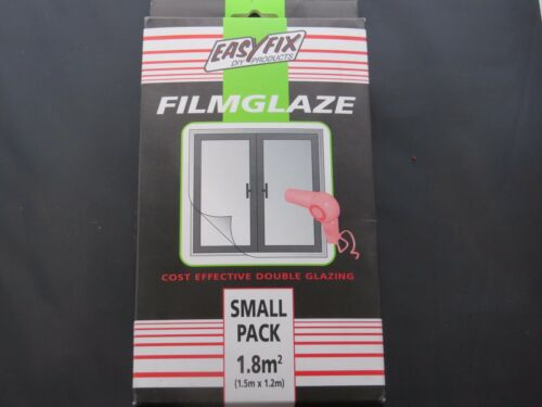 EASYFIX filmglaze petit 1.8 m² Secondary Glazing Tirant d/'eau isolation Film Rétractable