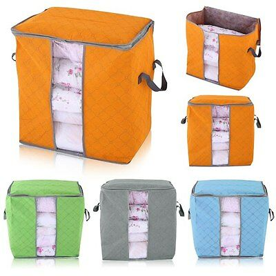 Newest Practical Home Foldable Storage Bag Clothes Blanket Quilt Toys Box Pouch