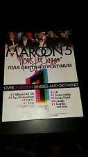 Maroon 5 Moves Like Jagger Rare Original Promo Ad Framed!