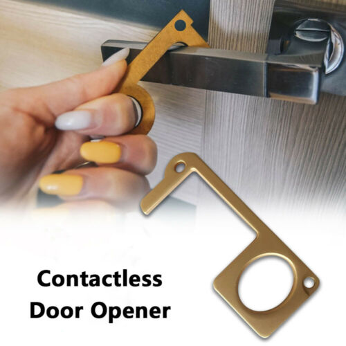 Door Opener Safe Contactless Safety Protection NO Touch Brass Key Opener Kits US