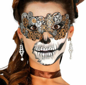Adults Steampunk Eyemask Masquerade Fancy Dress Halloween Antique Metal Finish