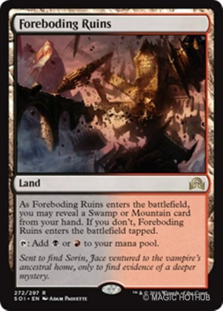 FOREBODING RUINS Shadows over Innistrad MTG Land Rare