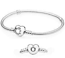 Authentic Pandora Sterling Silver Heart Clasp Bracelet size 7.5 19cm 590719