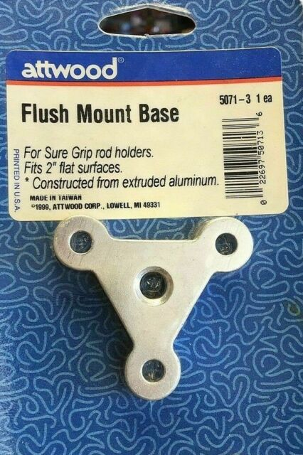 ATTwood 5071-3 Flush Mount Sure Grip Mounting Bases