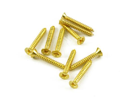 24k Gold Short Humbucker Ring Screws 10pcs fits Gibson Les Paul Neck Pickup ring