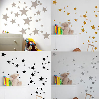 110Pcs Stars Wall Stickers Kids Room PVC Decal Art Nursery Bedroom Vinyl Decor