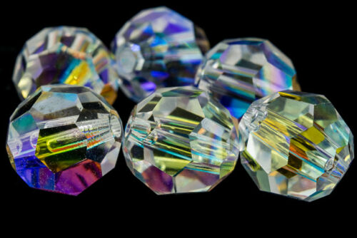 4 Pcs, 36 Pcs, 144 Pcs, 720 Pcs Swarovski 5000 5mm Crystal AB Faceted Bead