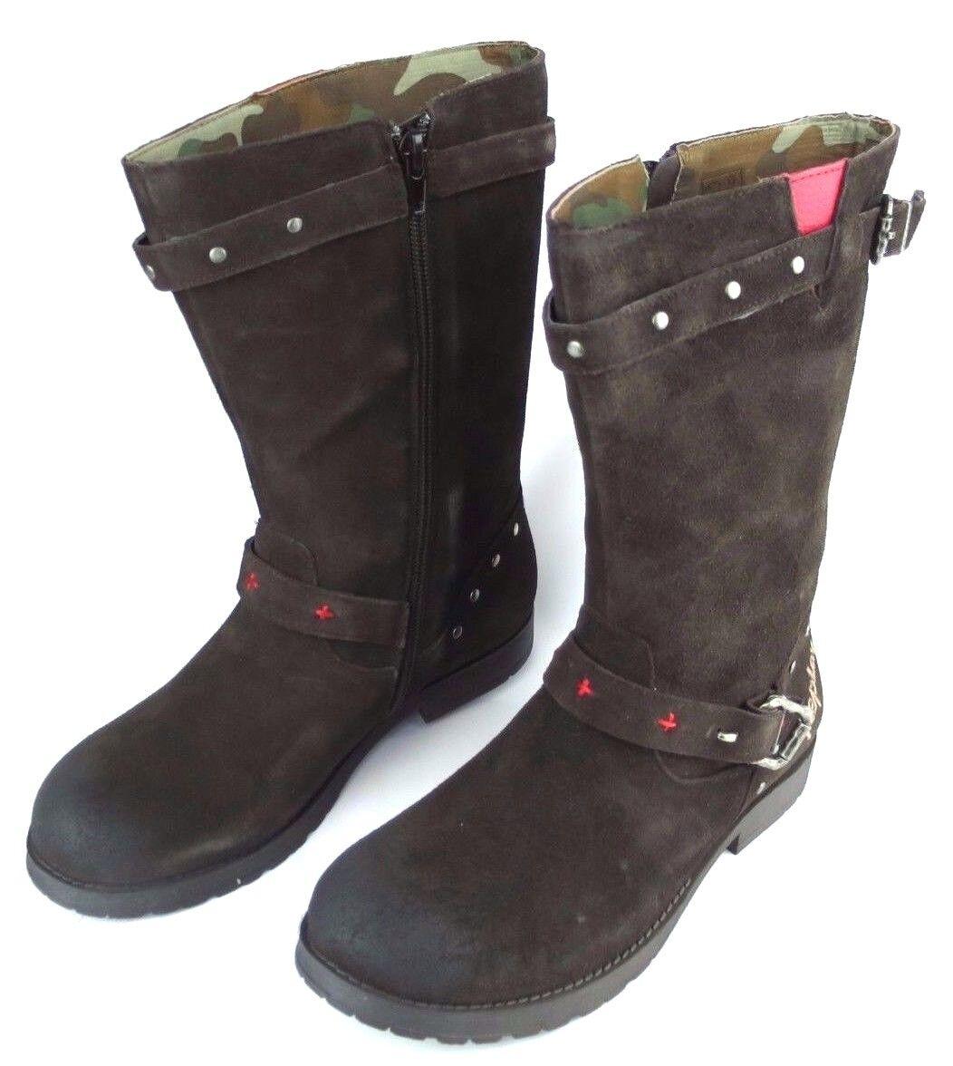 Replay Lichfield Femmes Cuir Chaussures Fille Bottes Woman bottes Marron Nouveau