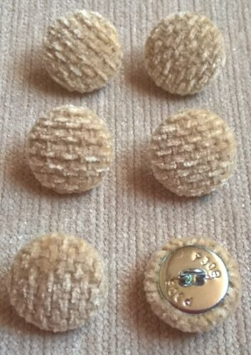 Textured Chenille 30L//19mm Wheat Upholstery Fabric Covered Butttons Craft Sewing