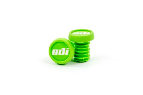 ODI GREEN PUSH-IN STYLE BICYCLE GRIP BARENDS END PLUGS--1 PAIR
