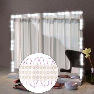 Flexible Led Vanity Mirror Lights Kit Strip Makeup Dressing Table Set Uk 13 Ebay