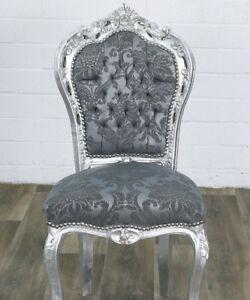 Chair Zu Barock Günstig Grau Silber Kaufen Dining Luxus Highlight Details Sitzmöbel Stuhl v80wmnN