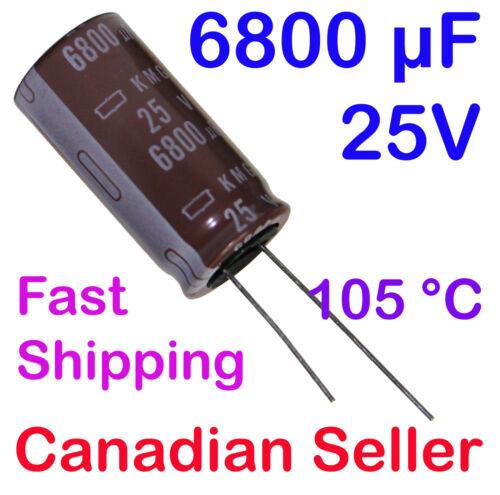 2pcs 6800uF 25V 18x35.5mm Nippon KMG For PC LCD LED TFT PS TV AUDIO VIDEO STEREO