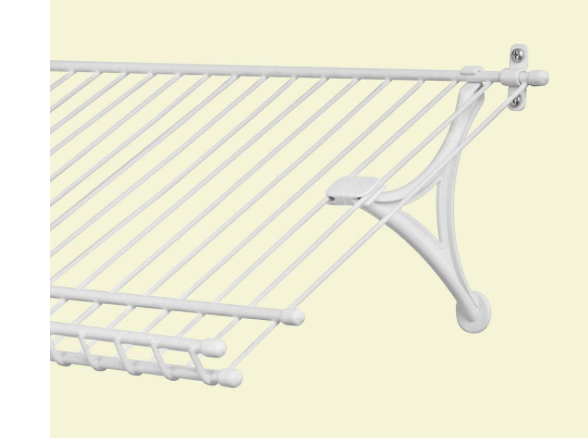 **new** Closetmaid 1 Pair Shoe Support Brackets For Wire Closet Shelving Zonden En Botten Versterken