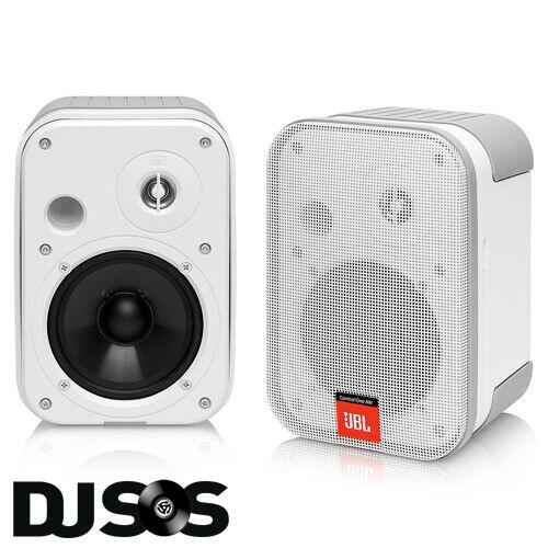 2 X JBL Control 1 Pro Compact Install Speakers White DJ PA HIFI Studio 70W RMS