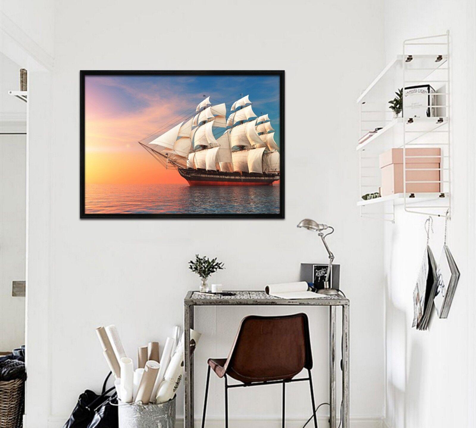 3D Sailing Trip 52 Framed Poster Home Decor Print Painting Art AJ WALLPAPER