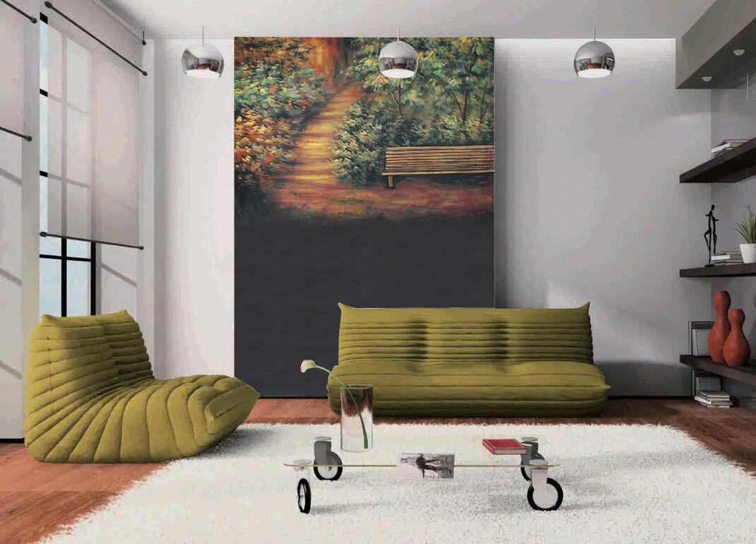 3D Treppen Bänke Garten 94 Tapete Wandgemälde Tapete Tapeten Bild Familie DE