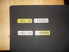 Personalised engraved Car Numberplate Keyrings, Ideal Gift