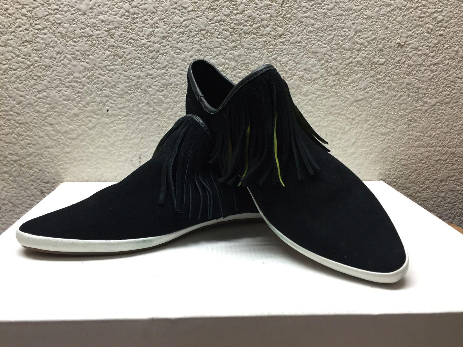 SANUK KAT FRINGE BLACK SUEDE SIDEWALK Schuhe Schuhe Schuhe US 7.5 / EU 38.5 / UK 5.5 -NWT d6f46b