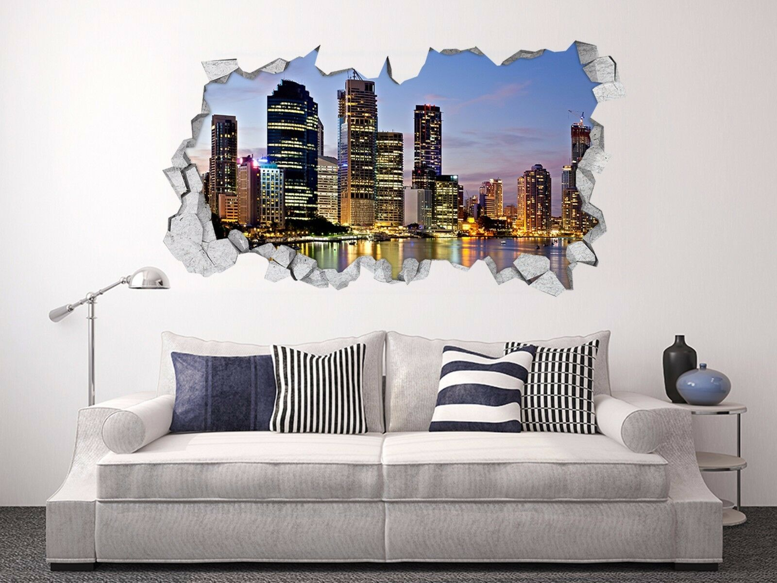 3D Città Splendente 143 Parete Murales Adesivi Decal Sfondamento AJ WALLPAPER IT