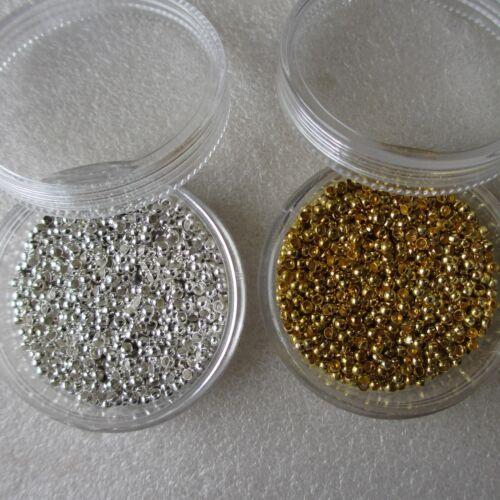 500 1000 2000 5000 10000pcs métal à sertir bouchon perles dans Baignoires fabrication de bijoux