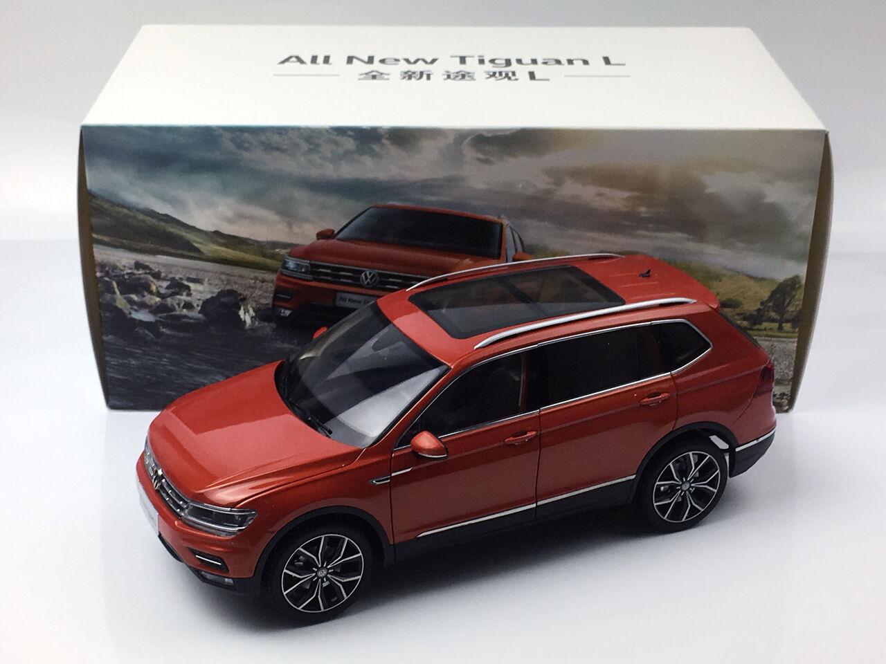 1 18 Volkswagen Nuevo Modelo de Metal Diecast arancia Tiguan L