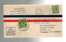 1934 England National Air Race Cover to Melbourne Australia Col Roscoe Turner