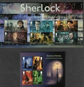 Sherlock-Holmes-2020-Presentation-Pack-Great-Britain-with-set-and-sheet-mnh