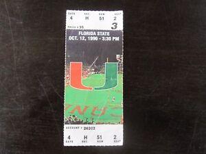 Miami-Hurricanes-vs-Florida-State-FSU-Ticket-Stub-10-12-96-Orange-Bowl-Stadium