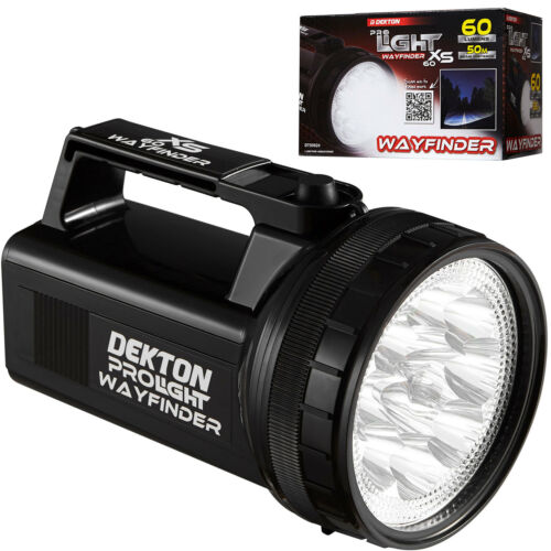 Dekton Pro Wayfinder XS 60 12 LED Torch 60 Lumens 50M Range & Batteries Car