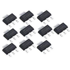 10Pcs-AMS1117-3-3-LM1117-3-3V-1A-SOT-223-Voltage-Regulator-Kh