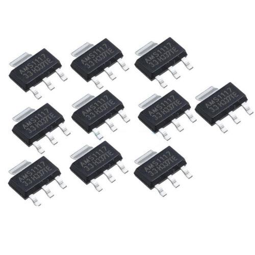 10Pcs neuer AMS1117-3.3 LM1117 3.3V 1A SOT-223 Spannungsregler TG