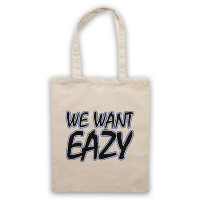 Eazy-e We Want Eazy Text Unofficial Nwa N.w.a Rap Hip Tote Bag Life Shopper