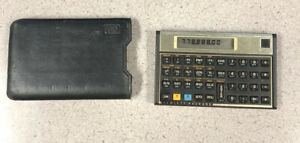 HP 12c Vintage Hewlett Packard Financial Calculator  with case Tested Working