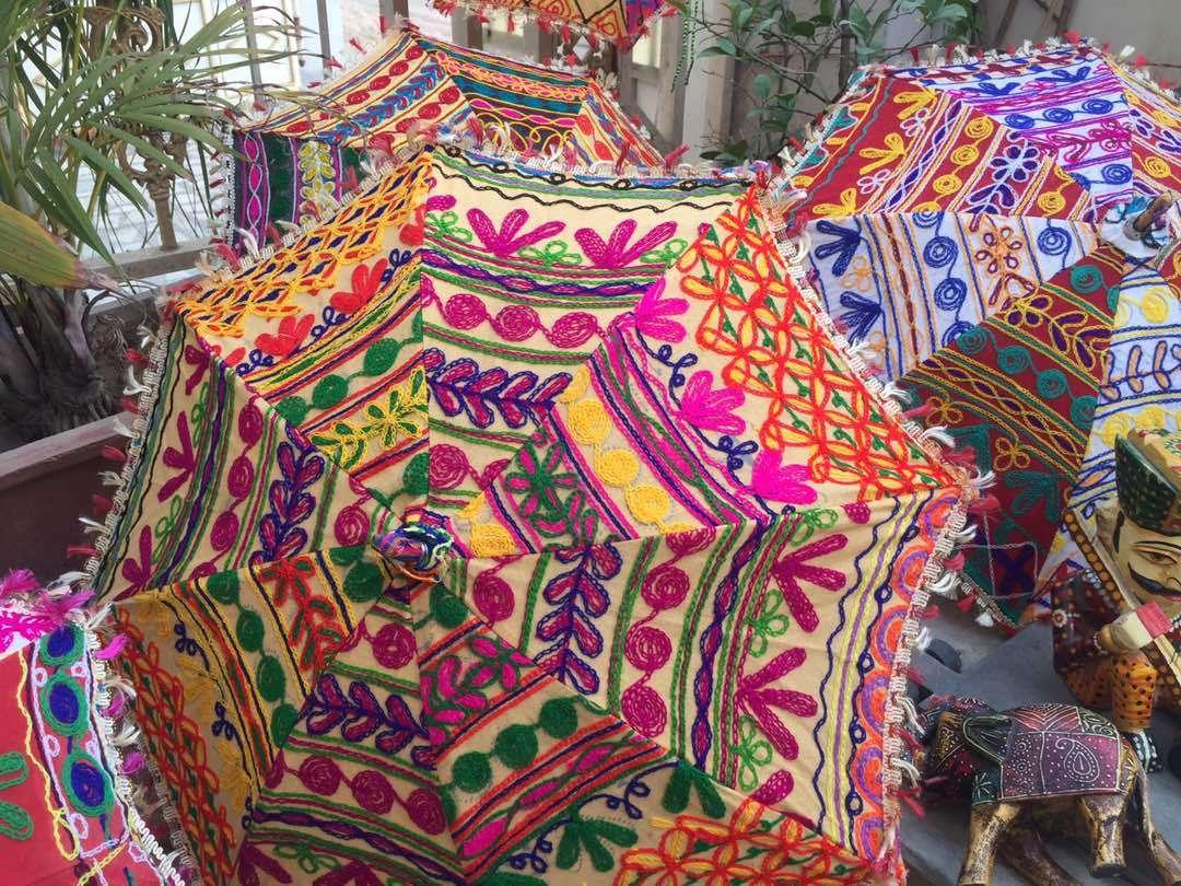 5-Pc Wholesale Lot Parasol Indian Umbrellas Decorative Wedding Bridal Shower 24