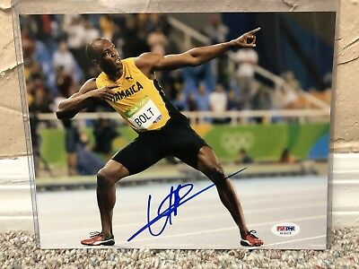 USAIN BOLT SIGNED AUTO PHOTO JAMAICA FASTEST MAN IN THE ...
