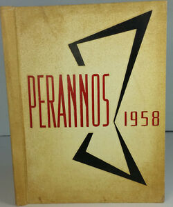 1958 Perannos, New Canaan High School Yearbook, New Canaan Connecticutt CT