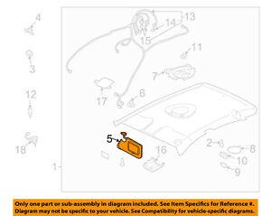 Chevrolet GM OEM 03-05 Cavalier Sunvisor-Sun Visor Right 22680815  5e7d795d1b7