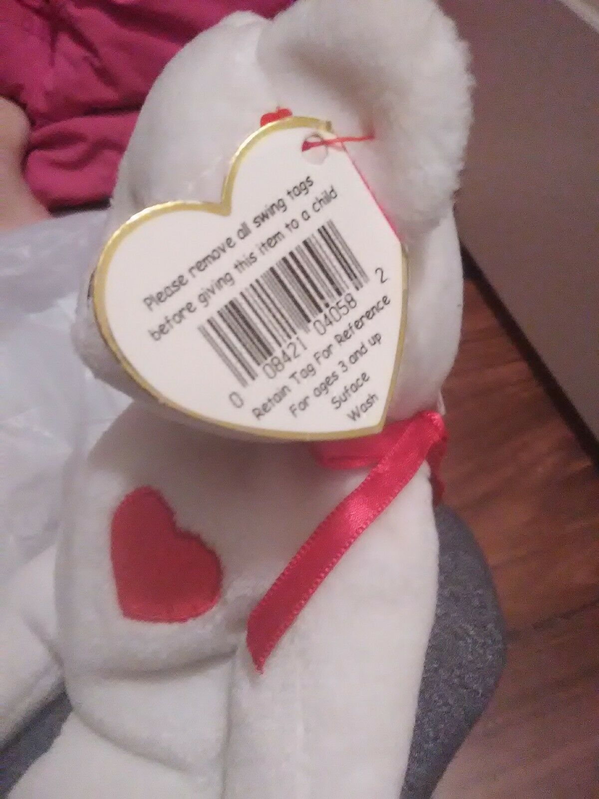 Extremely Rare   VALENTINO 1993 1994 TY Beanie Baby misspelled errors...tush tag